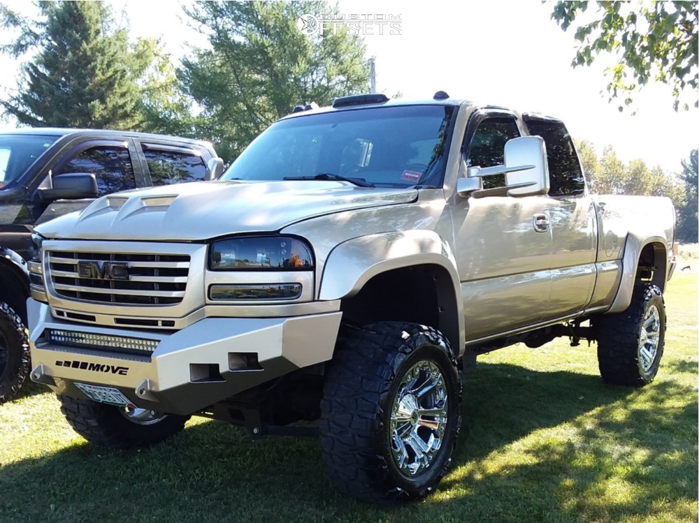 1 2004 Sierra 2500 Hd Gmc Rough Country Suspension Lift 6in Xd Monster Chrome