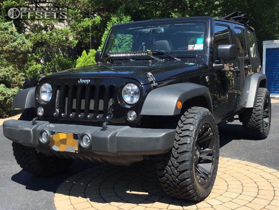1 2014 Wrangler Jeep Stock Xd Monster Matte Black Slightly Aggressive ...