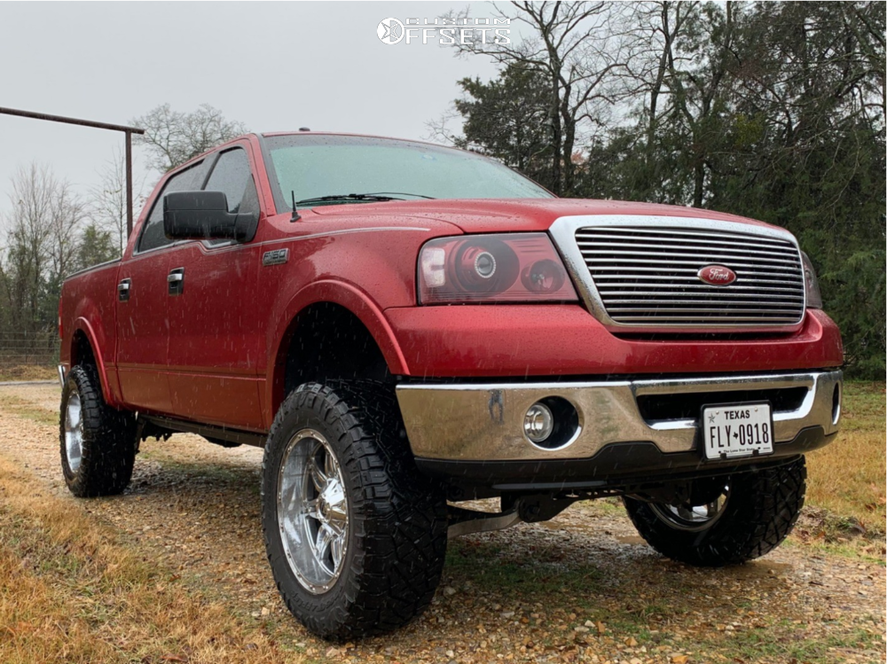 1 2007 F 150 Ford Rough Country Suspension Lift 7in Fuel Hostage D530 Chrome