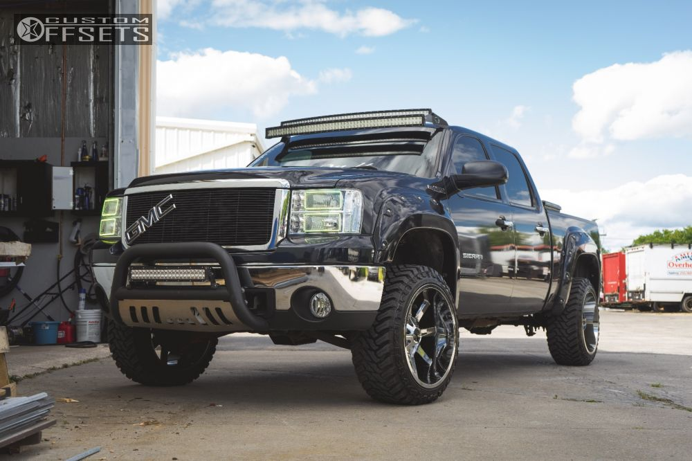 1 2007 Sierra 1500 Gmc Suspension Lift 35 Cali Offroad Busted Chrome Aggressive 1 Outside Fender