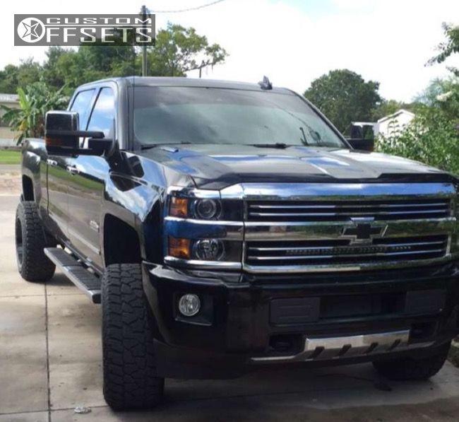 2 2016 Silverado 2500 Hd Chevrolet Leveling Kit Hostile Sprocket Black Milled