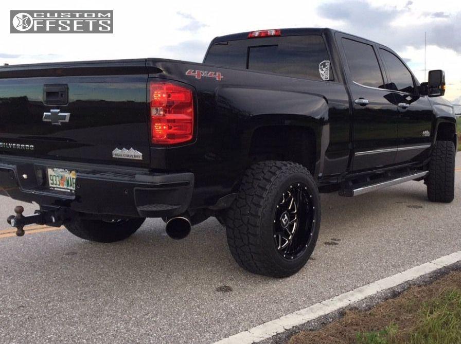 3 2016 Silverado 2500 Hd Chevrolet Leveling Kit Hostile Sprocket Black Milled