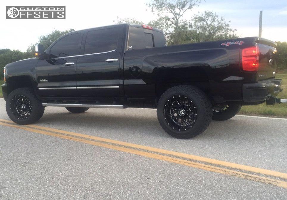 4 2016 Silverado 2500 Hd Chevrolet Leveling Kit Hostile Sprocket Black Milled