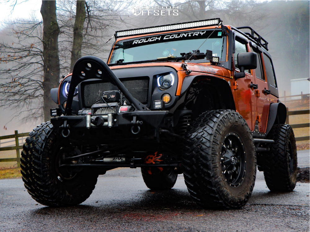 1 2011 Wrangler Jeep Fox Suspension Lift 65in Fuel Krank Machined Accents