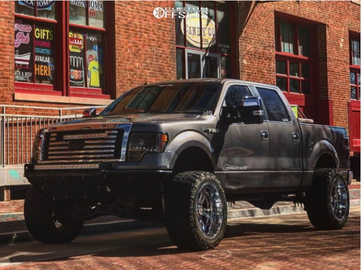"2010 Ford F-150 Hella Stance >5"" on 22x12 -44 offset Moto Metal Mo969 and 325/60 Nitto Trail Grappler on Suspension Lift 6"" - Custom Offsets Gallery"