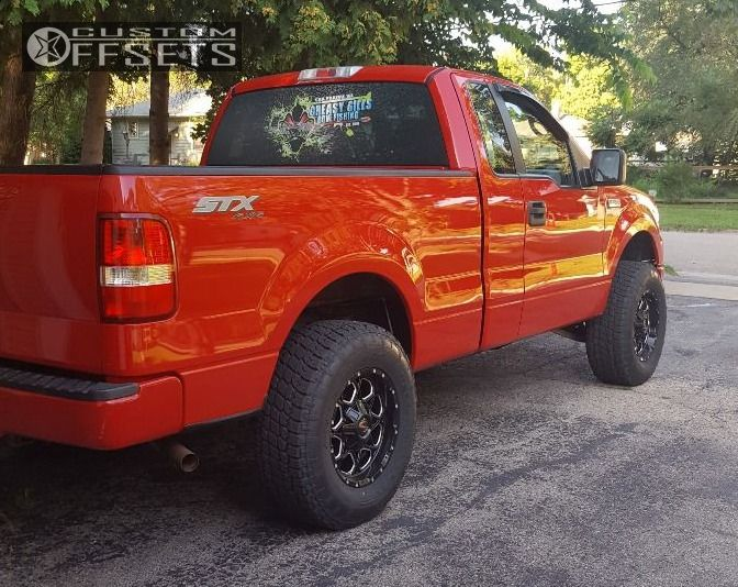 3 2007 F 150 Ford Leveling Kit Scorpion Scorpion Black Aggressive 1 Outside Fender