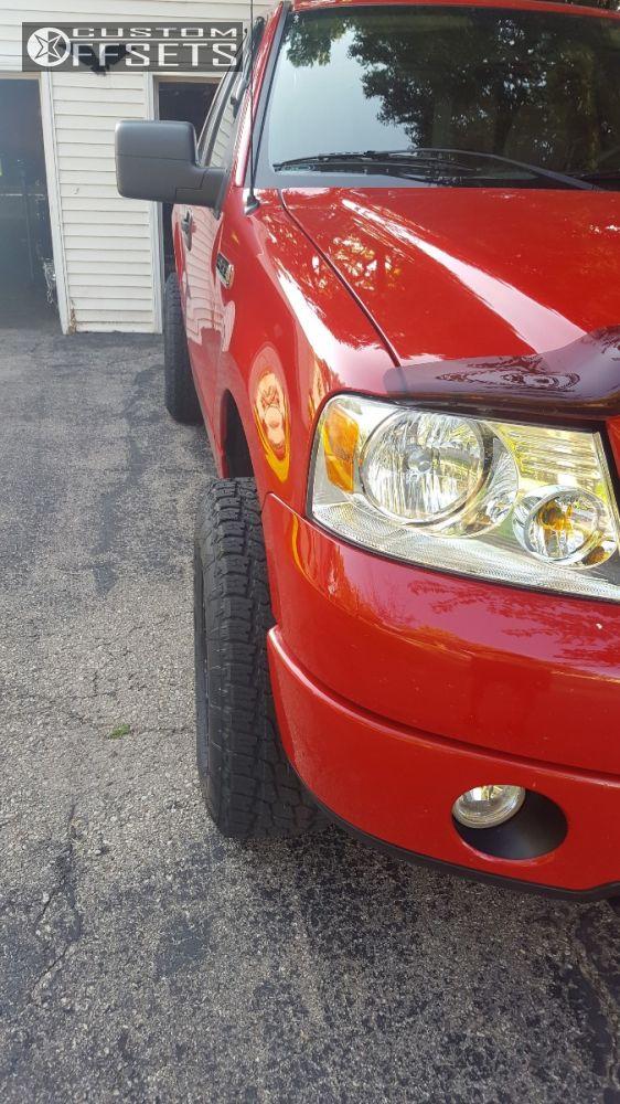 5 2007 F 150 Ford Leveling Kit Scorpion Scorpion Black Aggressive 1 Outside Fender