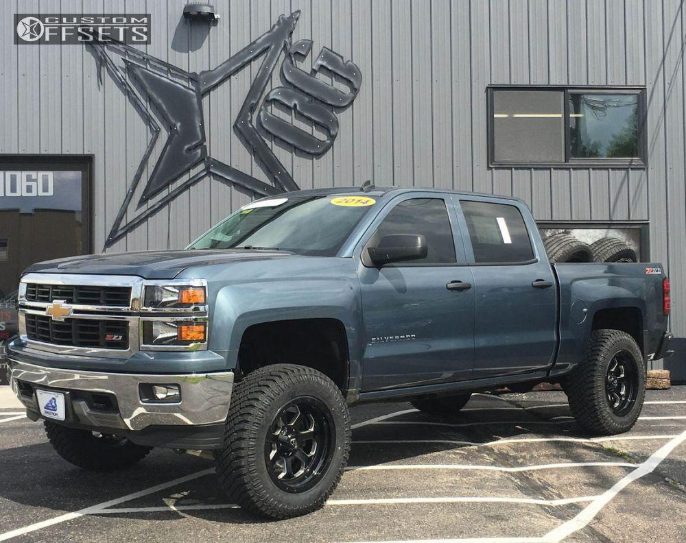 1 2014 Silverado 1500 Chevrolet Suspension Lift 6 Fuel Savage Black Slightly Aggressive