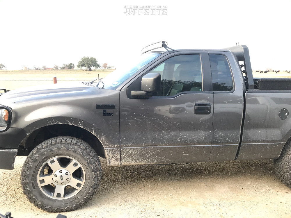 """2007 Ford F-150 Super Aggressive 3""""-5"""" on 18x7.5 44 offset Spaced Out Stockers Spaced Out Stockers and 275/70 BFGoodrich All Terrain Ta Ko2 on Stock Suspension - Custom Offsets Gallery"""