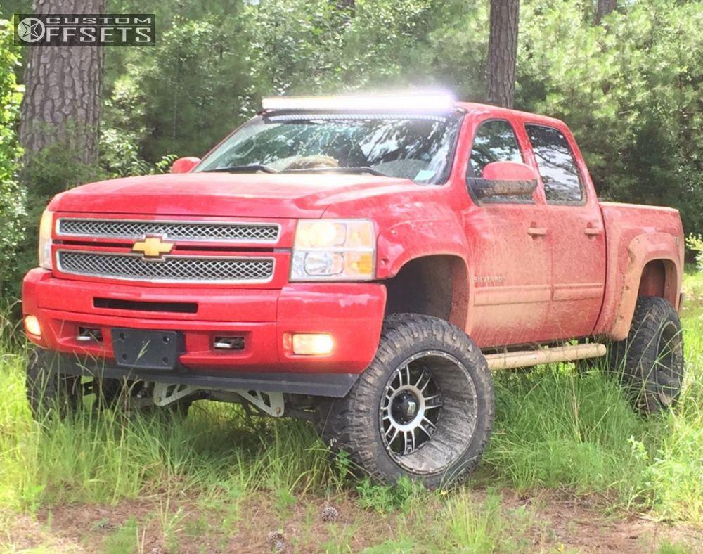 Silverado 2013 chevy silverado tires : 2013 Chevrolet Silverado 1500 Xd Riot Mcgaughys Suspension Lift 9in