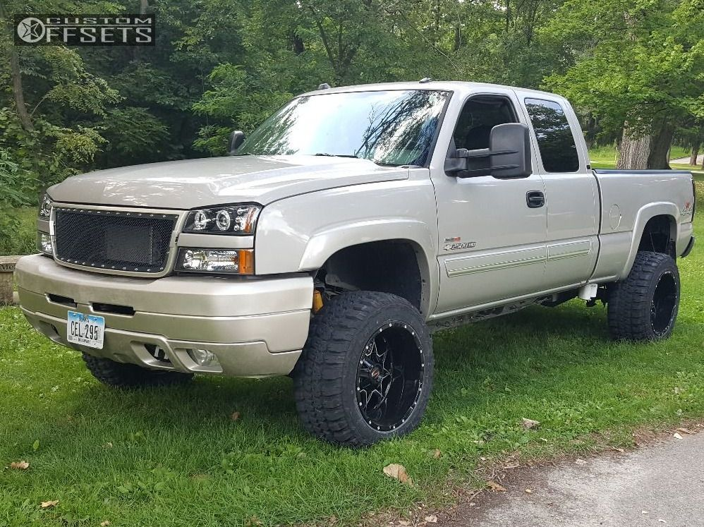 1 2005 Silverado 2500 Hd Chevrolet Suspension Lift 4 Scorpion Sc10 Machined Black Super Aggressive 3 5