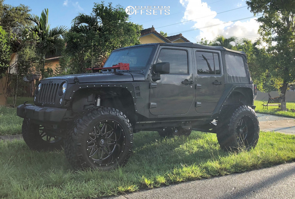 1 2017 Wrangler Jk Jeep Rough Country Suspension Lift 6in Xf Offroad Xf 211 Black