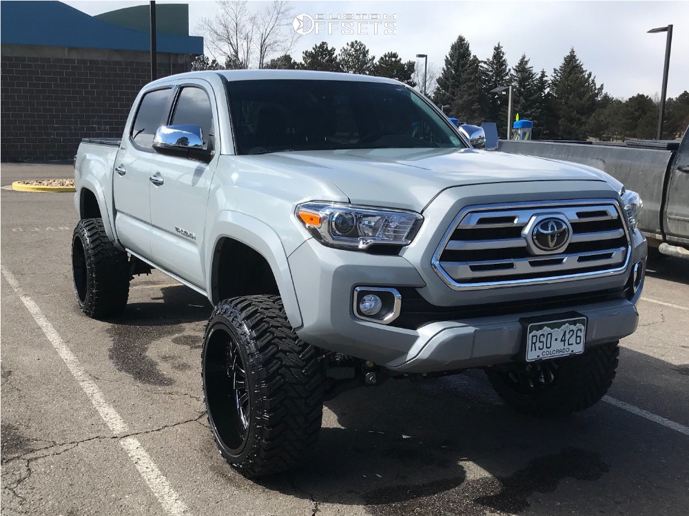 1 2018 Tacoma Toyota Rough Country Suspension Lift 6in Arkon Off Road Alexander Black