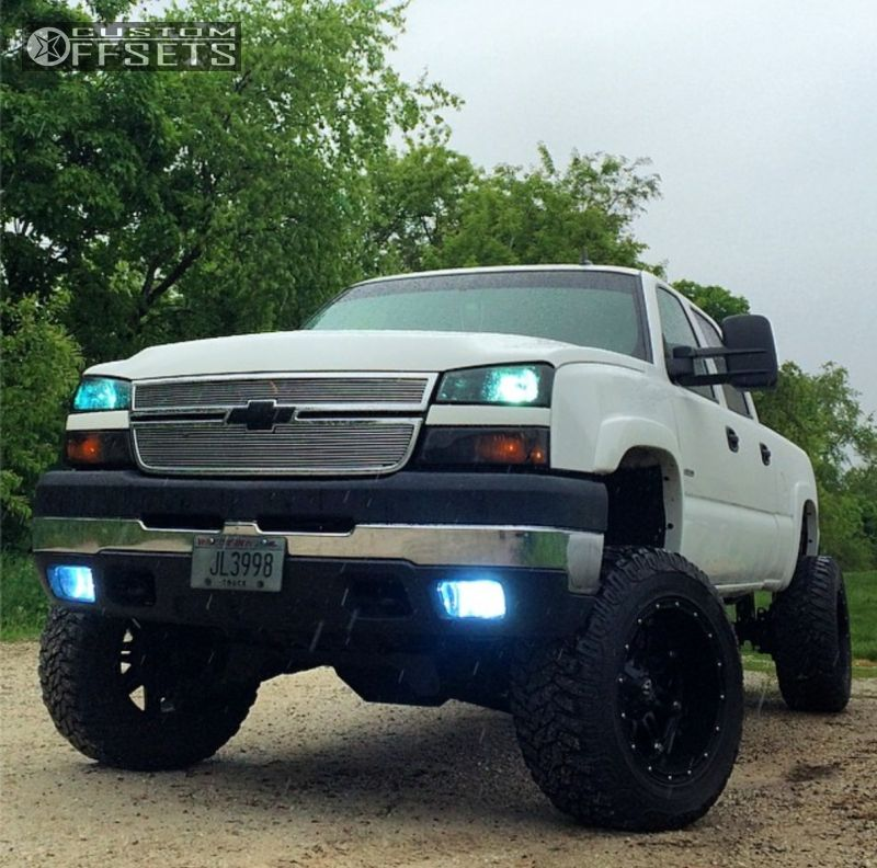 1 2007 Silverado 2500 Hd Chevrolet Suspension Lift 6 Fuel Hostage Black Super Aggressive 3