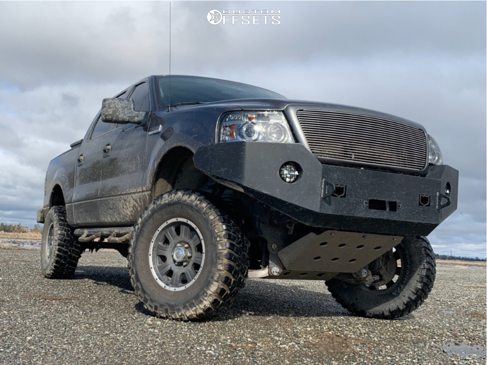 """2007 Ford F-150 Aggressive > 1"""" outside fender on 17x9 0 offset Eagle Alloy Series 140 and 35""""x12.5"""" BFGoodrich Mud Terrain T/a Km2 on Suspension Lift 4"""" - Custom Offsets Gallery"""