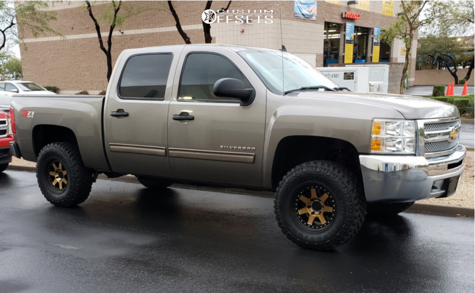 1 2013 Silverado 1500 Chevrolet Rough Country Suspension Lift 35in Mayhem Prodigy Bronze