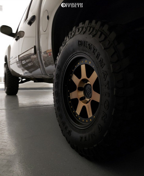 4 2013 Silverado 1500 Chevrolet Rough Country Suspension Lift 35in Mayhem Prodigy Bronze