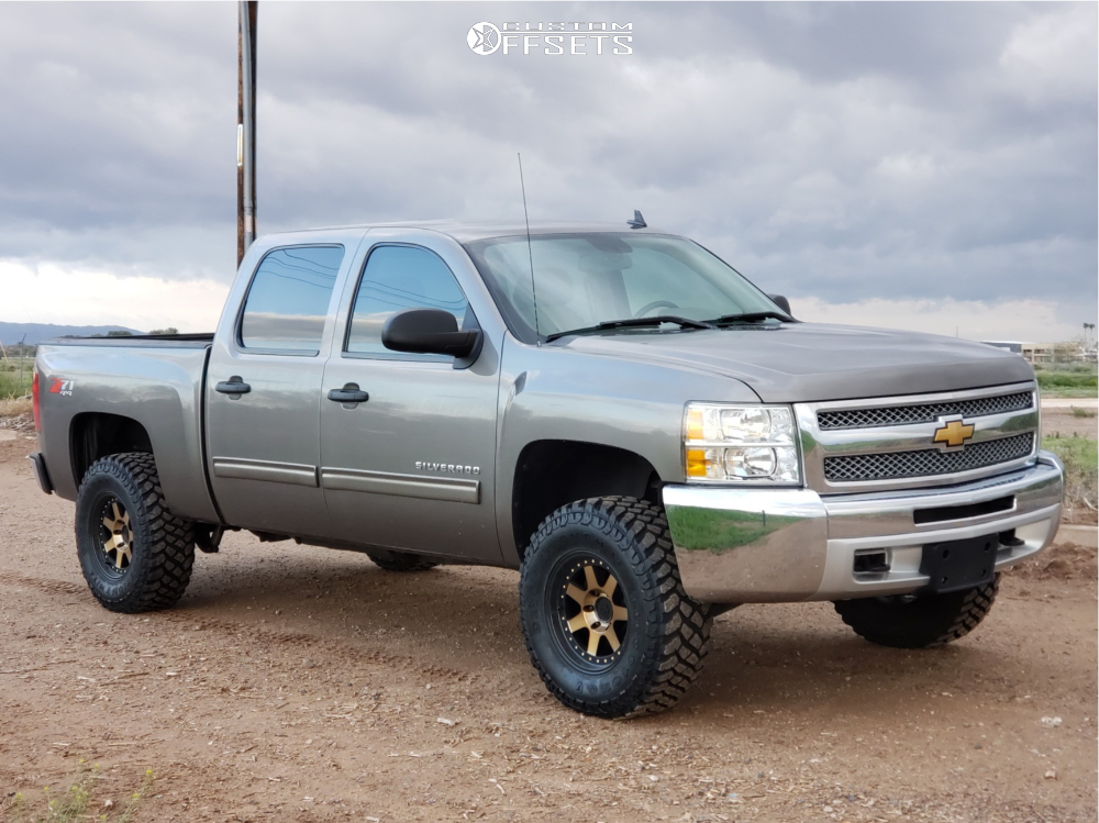 6 2013 Silverado 1500 Chevrolet Rough Country Suspension Lift 35in Mayhem Prodigy Bronze