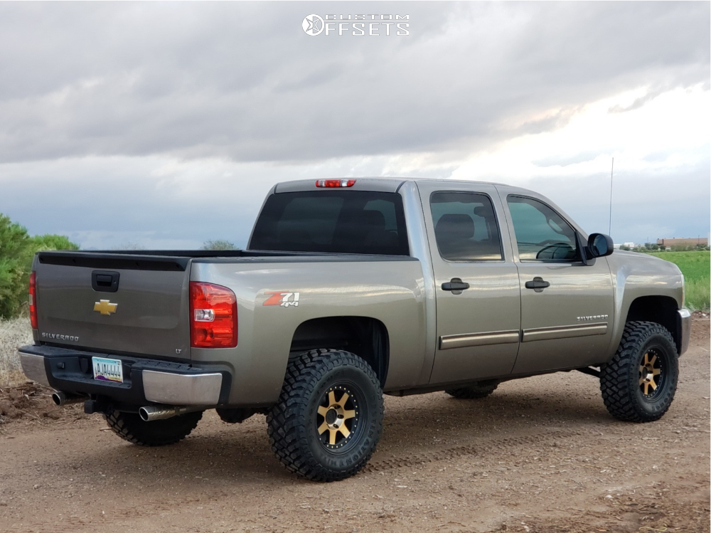 7 2013 Silverado 1500 Chevrolet Rough Country Suspension Lift 35in Mayhem Prodigy Bronze