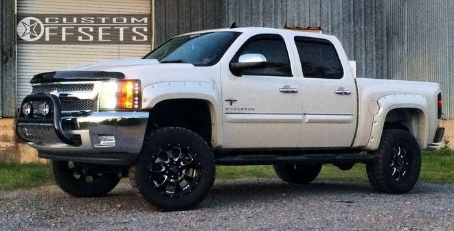 1 2013 Silverado 1500 Chevrolet Suspension Lift 6 American Eagle 014 Black Nearly Flush