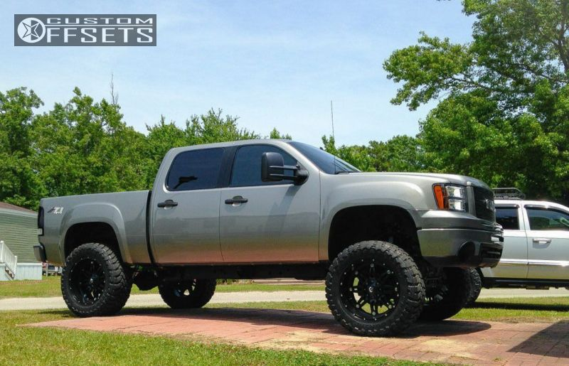 Lifted Gmc Sierra >> 2007 Gmc Sierra 1500 Fuel Hostage Rough Country Suspension Lift 75in Custom Offsets