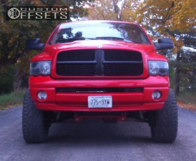 6465 2 2005 ram 1500 dodge suspension lift 6 moto metal 961 black super aggressive 3 - Red 2005 Dodge Ram 1500 Lifted