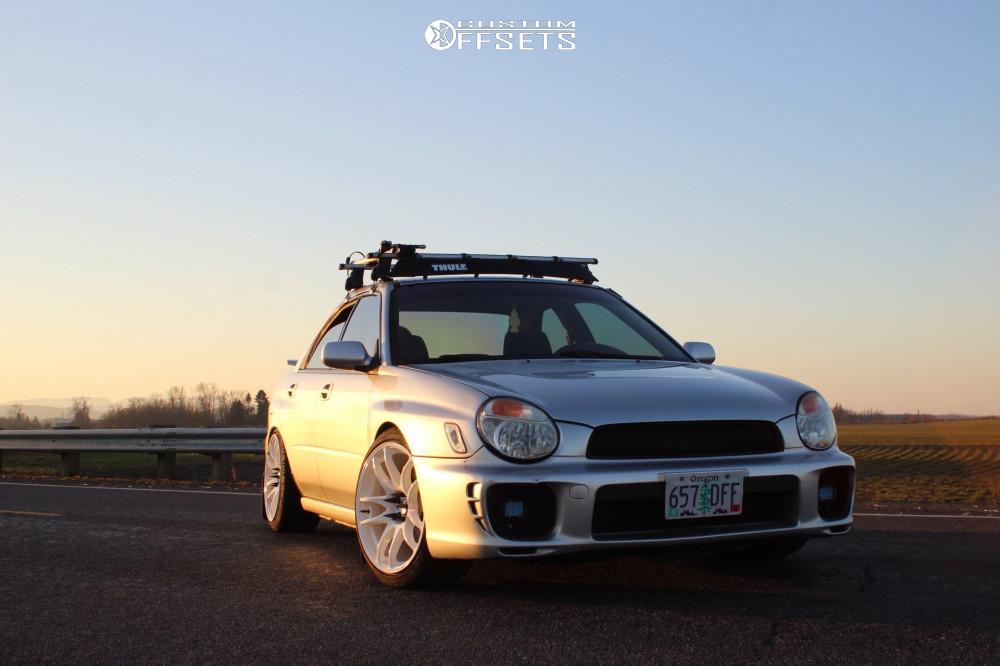 1 2002 Impreza Subaru Rs Bc Racing Coilovers Esr Sr08 White