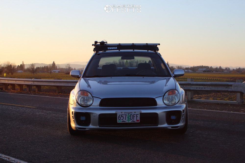 2 2002 Impreza Subaru Rs Bc Racing Coilovers Esr Sr08 White
