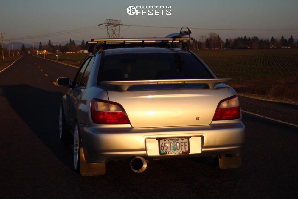 3 2002 Impreza Subaru Rs Bc Racing Coilovers Esr Sr08 White