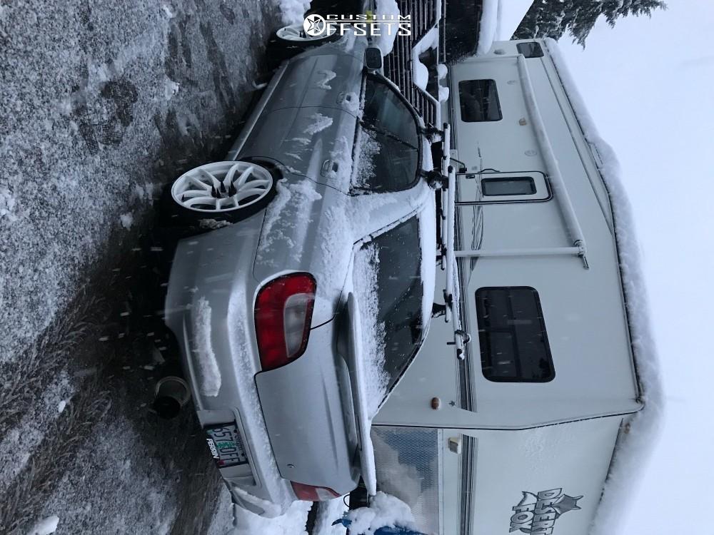 4 2002 Impreza Subaru Rs Bc Racing Coilovers Esr Sr08 White