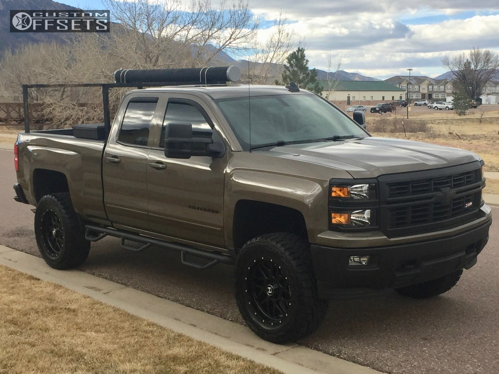 1 2015 Silverado 1500 Chevrolet Suspension Lift 6 Hostile Sprocket Black Slightly Aggressive