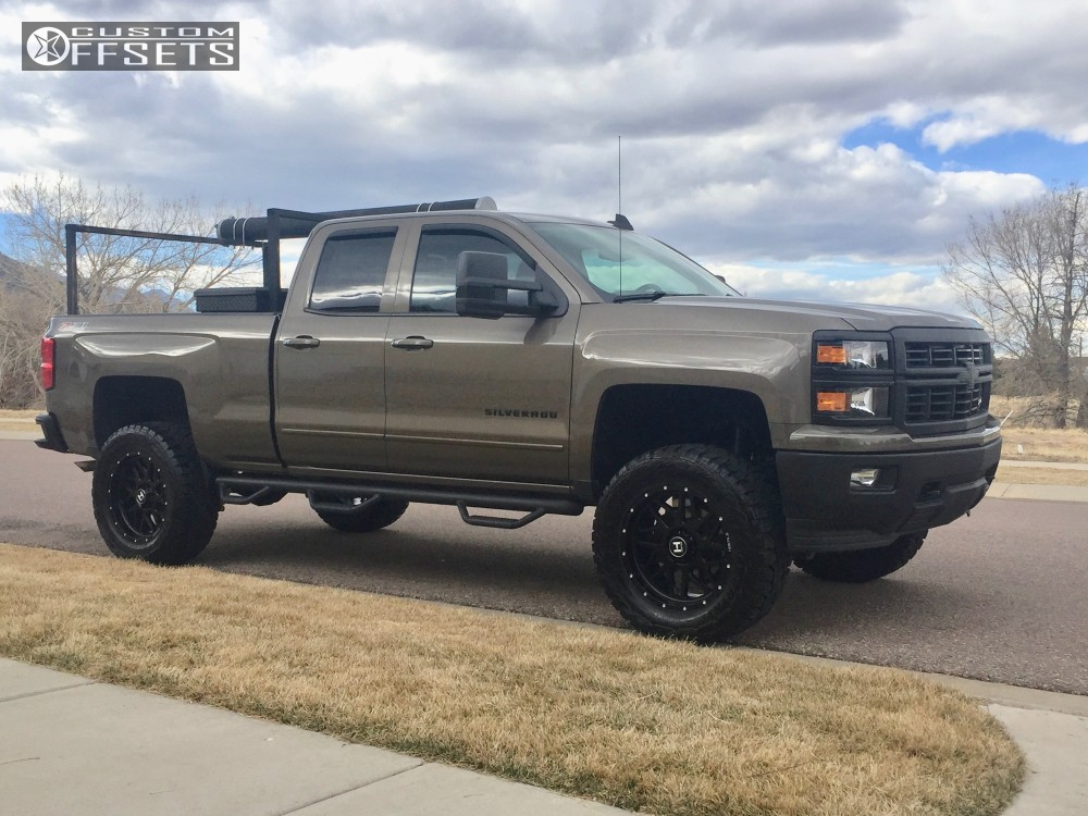 12 2015 Silverado 1500 Chevrolet Suspension Lift 6 Hostile Sprocket Black Slightly Aggressive