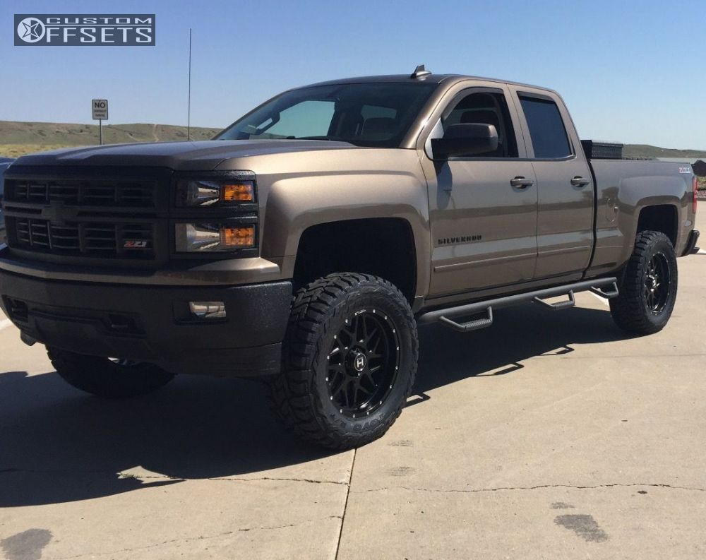 8 2015 Silverado 1500 Chevrolet Suspension Lift 6 Hostile Sprocket Black Slightly Aggressive