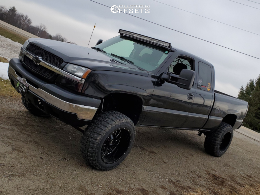 1 2005 Silverado 1500 Chevrolet Rough Country Suspension Lift 6in Dwg Offroad Other Black