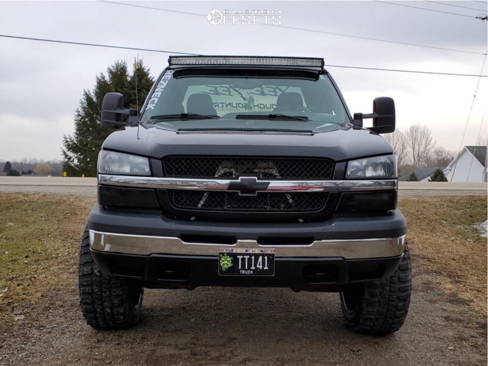2 2005 Silverado 1500 Chevrolet Rough Country Suspension Lift 6in Dwg Offroad Other Black