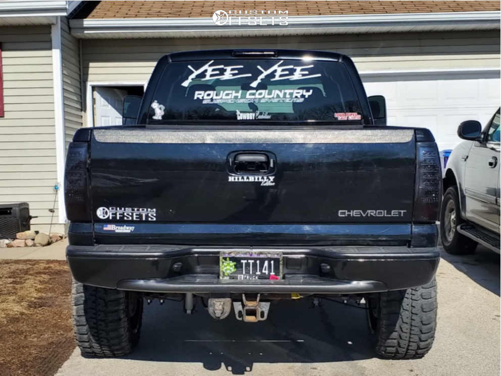 3 2005 Silverado 1500 Chevrolet Rough Country Suspension Lift 6in Dwg Offroad Other Black