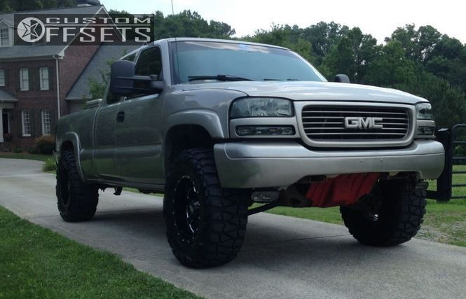 1 2001 Sierra 1500 Gmc Leveling Kit Moto Metal Mo962 Black Aggressive 1 Outside Fender