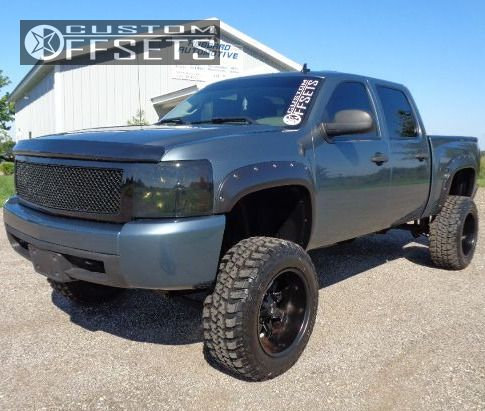 1 2008 Silverado 1500 Chevrolet Lifted 9 Alloy Ion Style 181 Black Super Aggressive 3 5
