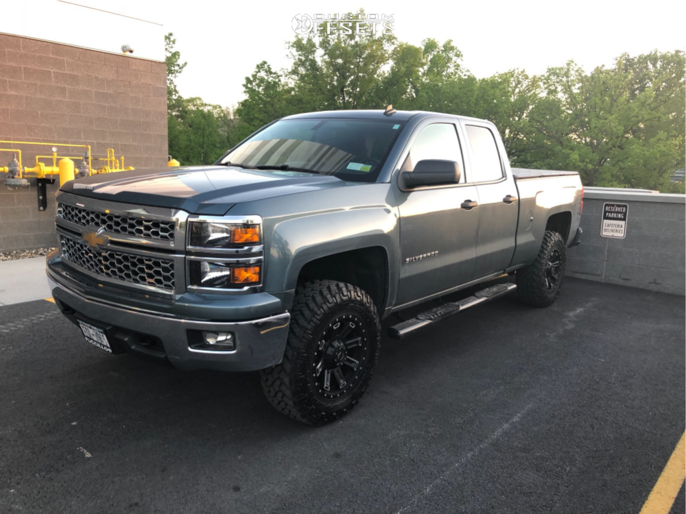 """2014 Chevrolet Silverado 1500 Aggressive > 1"""" outside fender on 18x9 18 offset Gear Off-Road Switchback and 275/70 Nitto Trail Grappler on Leveling Kit - Custom Offsets Gallery"""