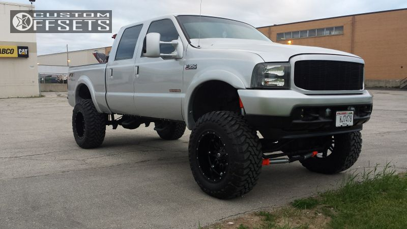 ford   super duty fuel hostage fabtech suspension lift  custom offsets