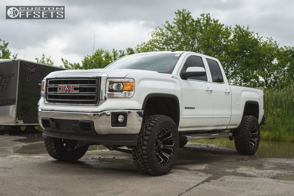 2014 gmc sierra lifted white. 1 2014 sierra 1500 gmc suspension lift 6 fuel assault black aggressive outside fender lifted white