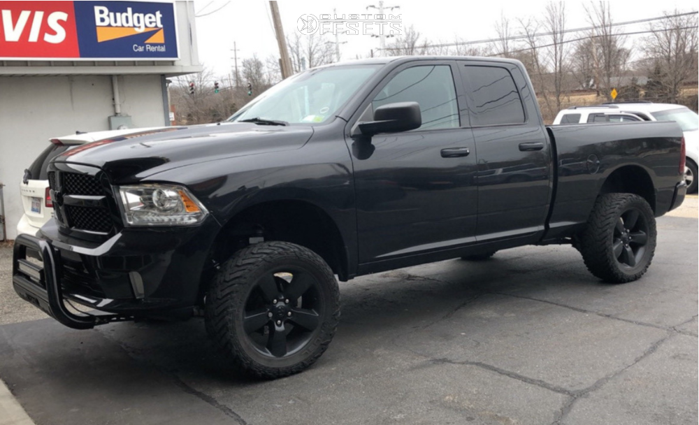 """2015 Ram 1500 Super Aggressive 3""""-5"""" on 20x9 18 offset Spaced Out Stockers Spaced Out Stockers and 33""""x12.5"""" Fuel Mud Gripper on Suspension Lift 4"""" - Custom Offsets Gallery"""