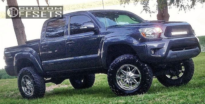 8 2012 Tacoma Toyota Suspension Lift 4 Fuel Hostage Chrome Aggressive 1 Outside Fender