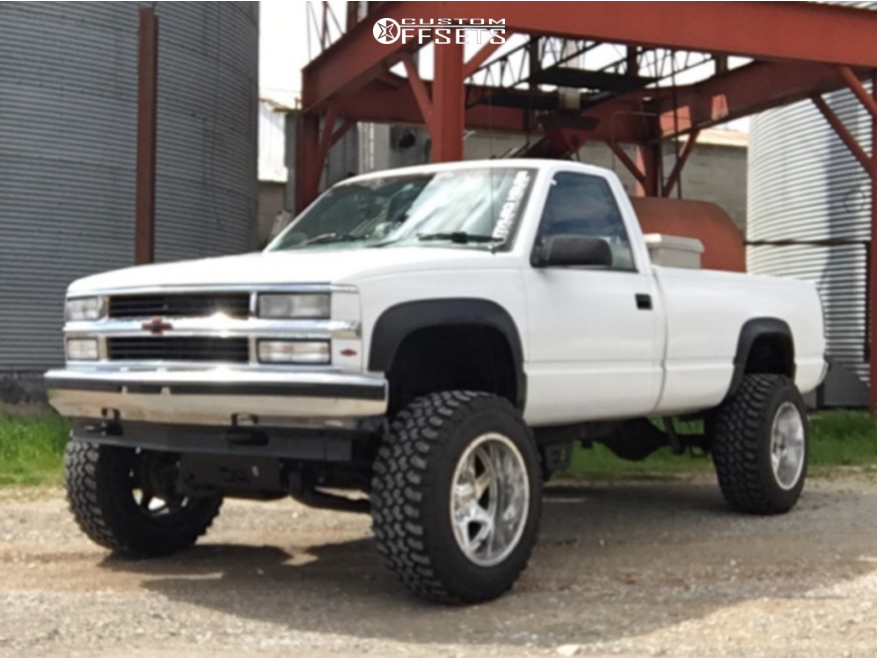 1 1995 K2500 Chevrolet Rough Country Suspension Lift 6in Moto Metal Mo976 Chrome