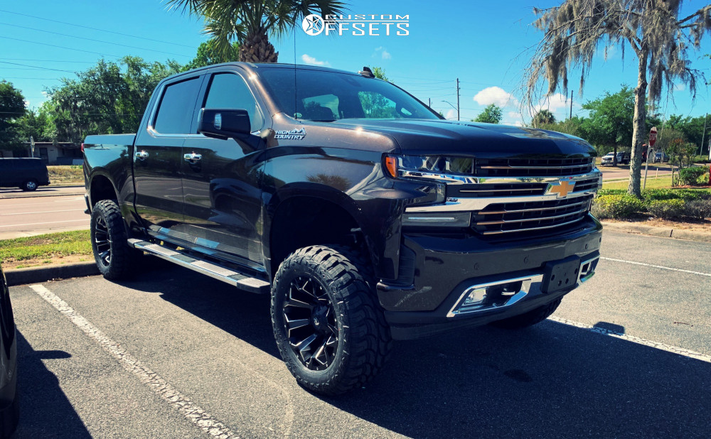 1 2019 Silverado 1500 Ld Chevrolet Rough Country Suspension Lift 6in Fuel Assault Black