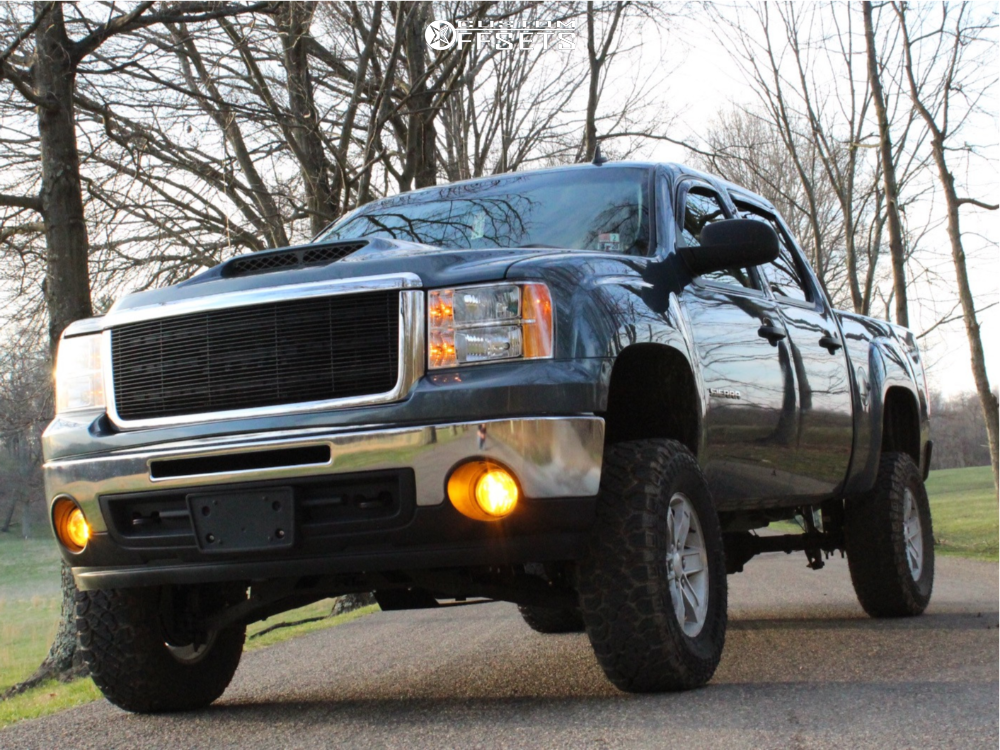"""2013 GMC Sierra 1500 Aggressive > 1"""" outside fender on 17x7.5 31 offset Spaced Out Stockers Spaced Out Stockers and 285/70 Kenda Klever R/t on Suspension Lift 7.5"""" - Custom Offsets Gallery"""