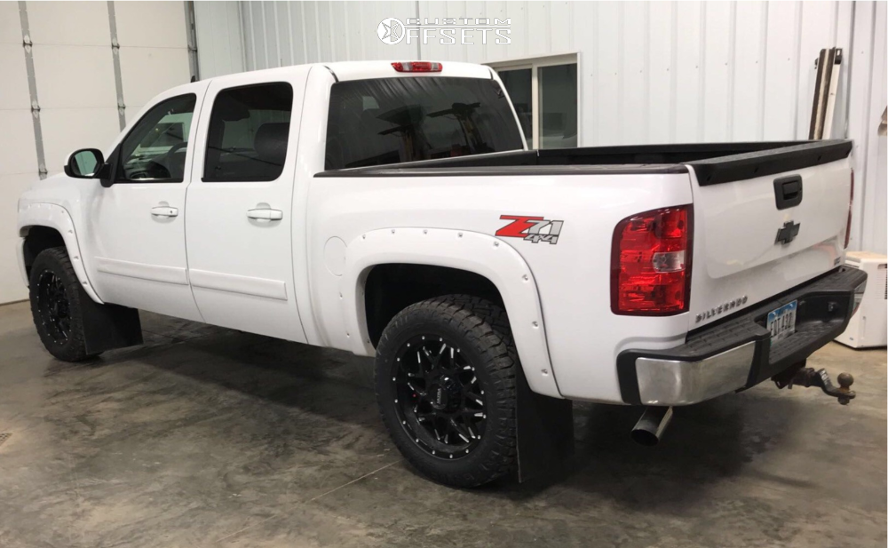 """2008 Chevrolet Silverado 1500 Aggressive > 1"""" outside fender on 20x9 1 offset Ultra Carnivore and 275/60 Nitto Ridge Grappler on Leveling Kit - Custom Offsets Gallery"""