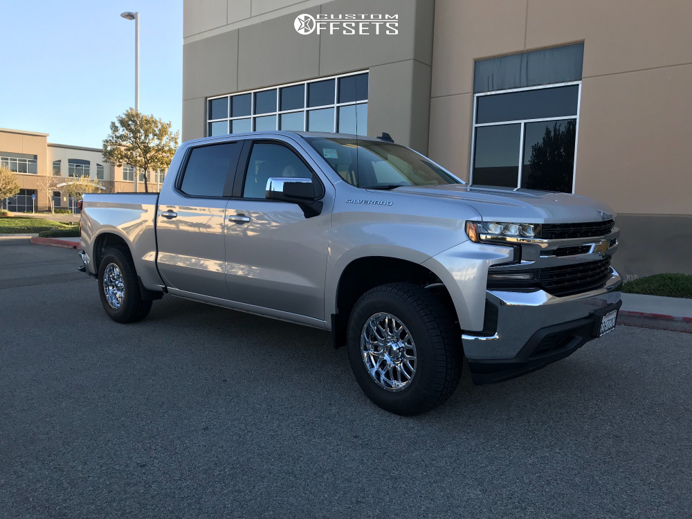 1 2019 Silverado 1500 Chevrolet Rough Country Leveling Kit Ultra Hunter Chrome