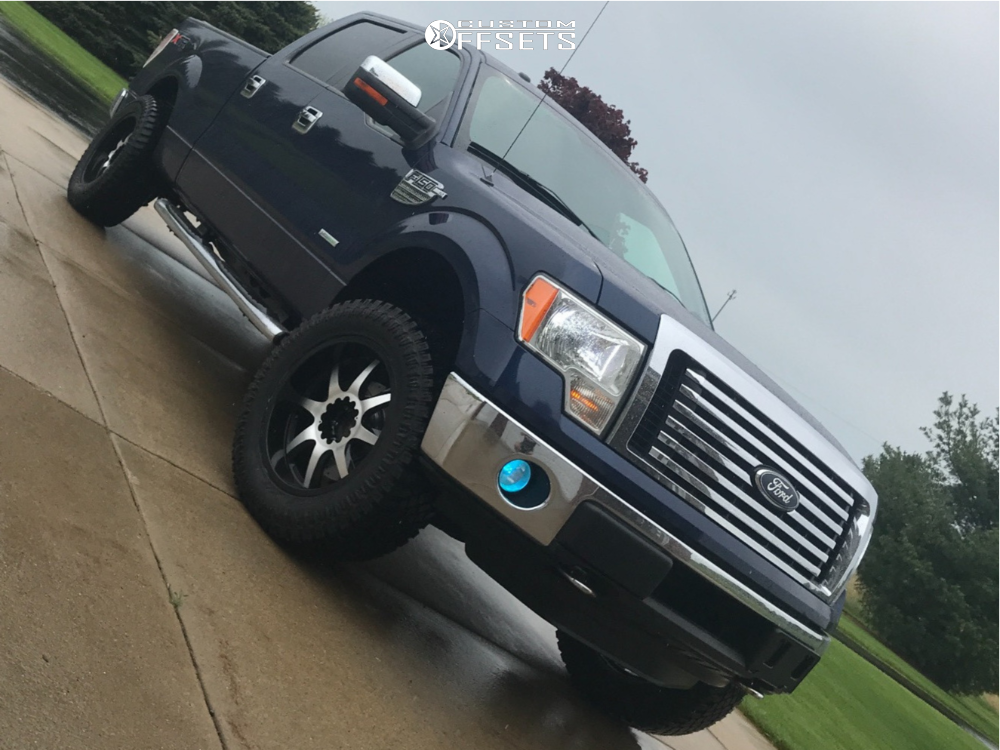 "2011 Ford F-150 Aggressive > 1"" outside fender on 20x9 -12 offset Panther Offroad 578 and 305/55 Atturo Trail Blade XT on Leveling Kit - Custom Offsets Gallery"