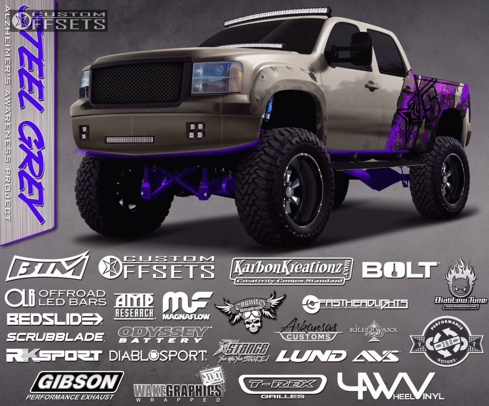 2013 Gmc Sierra 1500 Xd Addict Custom Leveling Kit Dual Battery 1 Black Hellaflush